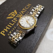 Philip Watch Caribe Steel 25mm White Roman numerals