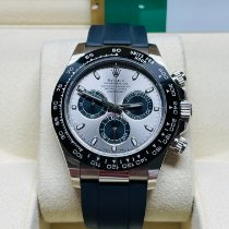 Rolex White gold Automatic Grey No numerals 40mm pre-owned Daytona