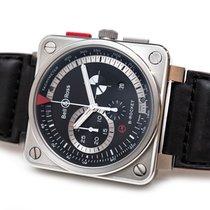 Bell & Ross BR 01-94 Chronographe Сталь 45mm Черный Без цифр