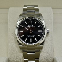 Rolex Oyster Perpetual 34 Steel 34mm Black No numerals United States of America, New York, Massapequa
