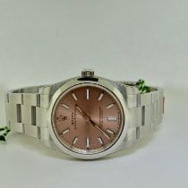 Rolex Oyster Perpetual 34 Steel 34mm Pink No numerals United States of America, New York, Massapequa