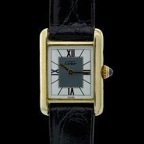 Cartier Tank Vermeil Silver 20mm White Roman numerals