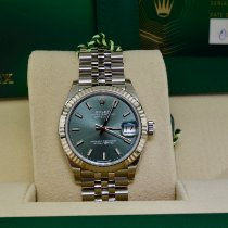 Rolex Lady-Datejust Steel 31mm Green No numerals