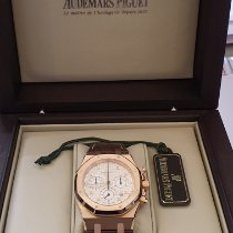 Audemars Piguet Red gold Automatic Silver No numerals pre-owned Royal Oak Chronograph