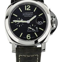 Panerai Steel Automatic Black 44mm pre-owned Luminor Power Reserve