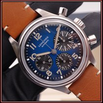 Longines Avigation Titanium 41mm Blue Arabic numerals