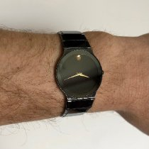 摩凡陀 鋼 石英 黑色 無數字 32mm 二手 Museum