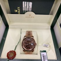 Rolex Day-Date II Rose gold 41mm Brown Roman numerals
