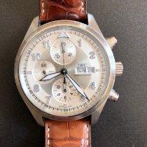 IWC Pilot Spitfire Chronograph Acier 42mm Blanc Arabes France, Paris
