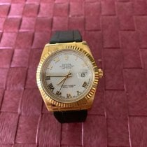 Rolex Red gold Automatic White pre-owned Datejust