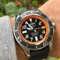 Breitling pre-owned Automatic Black Sapphire crystal Over 120 ATM