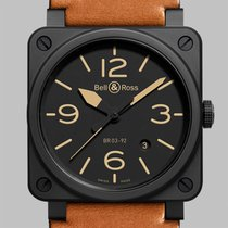 Bell & Ross BR 03-92 Ceramic BR0392-HERITAGE-CE New Ceramic 42mm Automatic