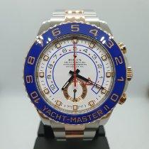 롤렉스 요트-마스터 II 금/스틸 44mm 흰색 숫자없음