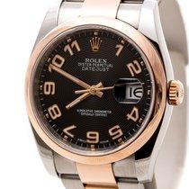 Rolex Datejust Acero y oro 36mm Negro Arábigos