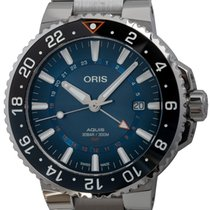 Oris Steel Automatic Blue 43mm pre-owned Aquis