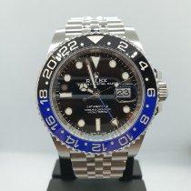 Rolex GMT-Master II Steel 40mm Black No numerals Singapore