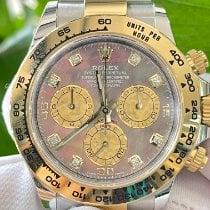 Rolex Daytona Золото/Cталь 40mm Перламутровый Aрабские