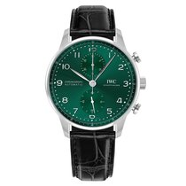 IWC Portuguese Chronograph Acero 41mm Verde Arábigos México, Corregidora