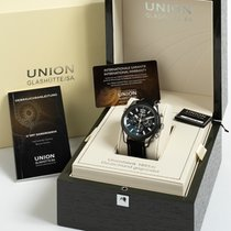 Union Glashütte Belisar Chronograph pre-owned 44mm Black Chronograph Date Leather