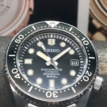 Seiko Steel Automatic Black 43mm pre-owned Marinemaster