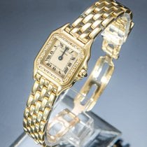 Cartier Panthère Yellow gold 21mm Champagne Roman numerals