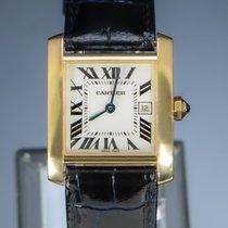 Cartier Tank Française 2466 Muito bom Ouro amarelo 25mm Quartzo