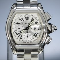 Cartier Roadster Steel 43mm White Roman numerals