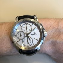 Maurice Lacroix Pontos Chronographe pre-owned 42mm Silver Chronograph Date Fold clasp