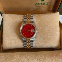 Rolex Datejust Gold/Stahl 36mm Rot Deutschland, Aspisheim