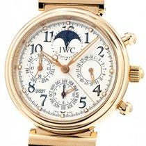 IWC Ouro rosa Automático Prata 41mm usado Da Vinci Perpetual Calendar