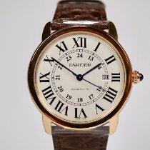 Cartier Roségold Automatik Silber Römisch 42mm neu Ronde Solo de Cartier