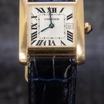 Cartier Tank Française 2466 Meget god Gult guld 30mm Kvarts