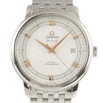 Omega De Ville Prestige gebraucht 39.5mm Silber Datum Stahl