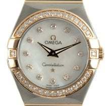 Omega Constellation Quartz Gold/Stahl 27mm Perlmutt