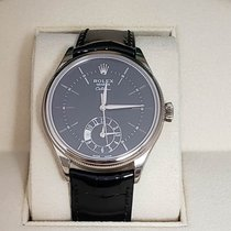 Rolex Cellini Dual Time White gold 39mm Black No numerals