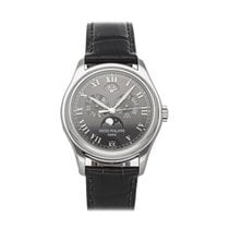 Patek Philippe Platinum Automatic Grey Roman numerals 37mm pre-owned Annual Calendar