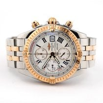 Breitling Chronomat Evolution pre-owned 44mm White Chronograph Date Tachymeter Gold/Steel