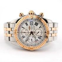 Breitling Chronomat Evolution Gold/Steel 44mm White Roman numerals