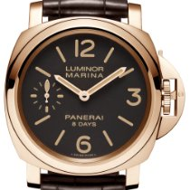 Panerai Luminor Marina 8 Days Roséguld 44mm Brun Arabiska