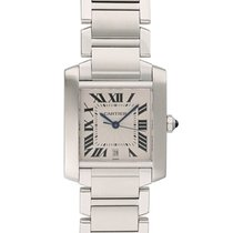Cartier Tank Française Steel 20mm White United States of America, New York, New York