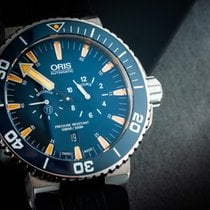 Oris Tubbataha Limited Edition Titan 46mm Blau Keine Ziffern