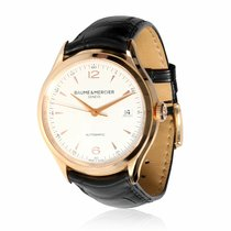 Baume & Mercier Rose gold Automatic Silver 39mm pre-owned Clifton