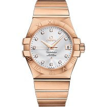 Omega Constellation Ladies Red gold 35mm Silver No numerals United Kingdom, London