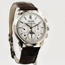Patek Philippe Perpetual Calendar Chronograph Aur alb 41mm Argint Fara cifre