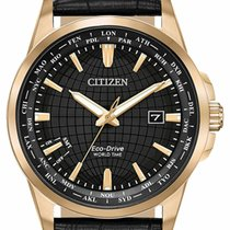 Citizen Rose gold Quartz Black 41mm new