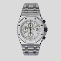 Audemars Piguet Royal Oak Offshore Chronograph folosit 42mm Alb Cronograf Data Tahimetru Titan