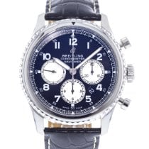 Breitling Navitimer 8 pre-owned 43mm Blue Date Leather