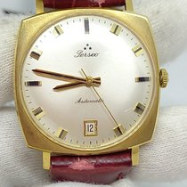 Perseo Yellow gold Automatic Champagne No numerals 32mm pre-owned