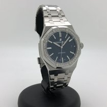 Audemars Piguet Royal Oak Lady Stal 37mm Niebieski Bez cyfr