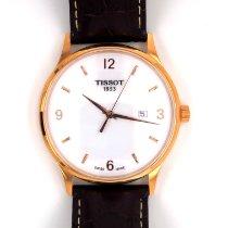 Tissot новые Кварцевые Центральная секундная стрелка 39mm Pозовое золото Сапфировое стекло